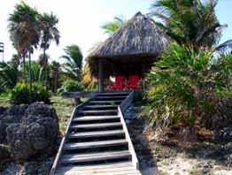 utila honduras vacations paradise cove dock to palapa