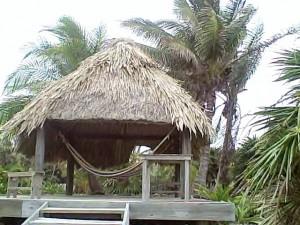 Palapa at Paradise Cove Utila Bay Islands Honduras